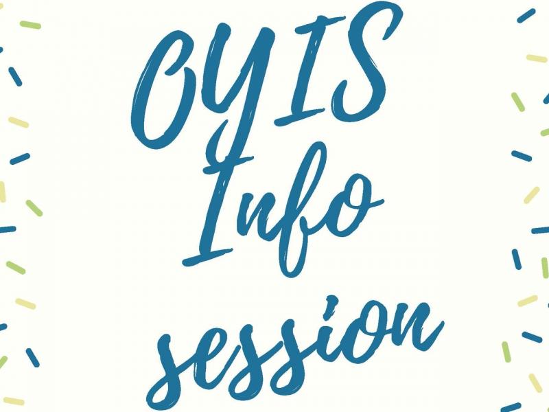information session banner